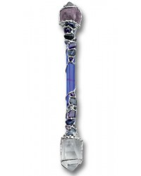 Psychic Support Large Crystal Wand for Intuition