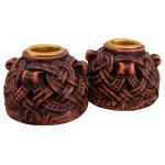 Celtic Knotwork Candleholder Pair