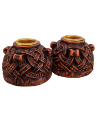 Celtic Knotwork Candleholder Pair All Wicca Store Magickal Supplies Wiccan Supplies, Wicca Books, Pagan Jewelry, Altar Statues