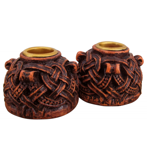 Celtic Knotwork Candleholder Pair at All Wicca Store Magickal Supplies, Wiccan Supplies, Wicca Books, Pagan Jewelry, Altar Statues