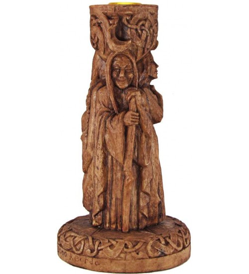 Triple Goddess Altar Candle Holder by Paul Borda at All Wicca Magickal Supplies, Wiccan Supplies, Wicca Books, Pagan Jewelry, Altar Statues