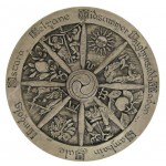 Wiccan Wheel of the Year Plaque