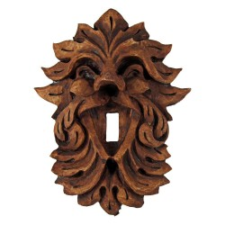 Laughing Leafman Green Man Switchplate All Wicca Wiccan Altar Supplies, All Wicca Books, Pagan Jewelry, Wiccan Statues