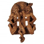 Green Man and Horned God Double Switchplate