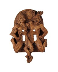 Green Man and Horned God Double Switchplate All Wicca Store Magickal Supplies Wiccan Supplies, Wicca Books, Pagan Jewelry, Altar Statues