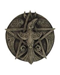 Crescent Raven Pentacle Plaque All Wicca Store Magickal Supplies Wiccan Supplies, Wicca Books, Pagan Jewelry, Altar Statues