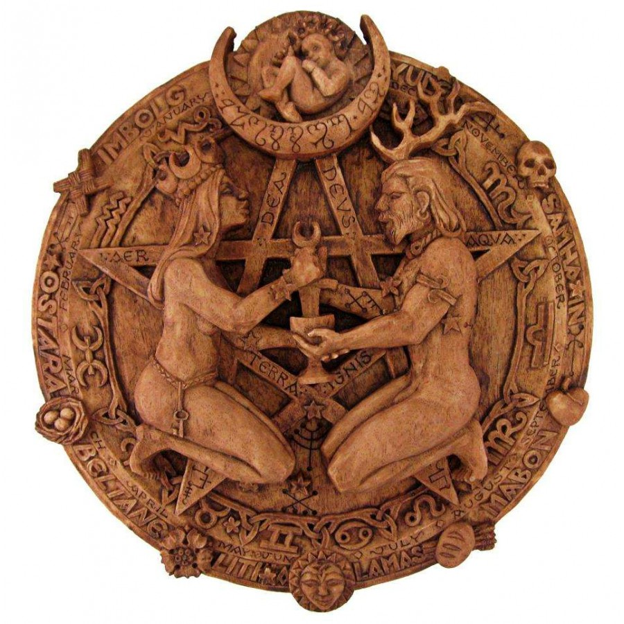 Great rite pentacle wicca plaque by paul borda union god goddess great rite pentacle wicca plaque by paul borda biocorpaavc Images