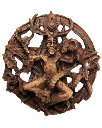 Cernunnos Horned God Celtic Pentacle Round Wall Plaque All Wicca Store Magickal Supplies Wiccan Supplies, Wicca Books, Pagan Jewelry, Altar Statues