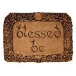 Blessed Be Wiccan Wall Plaque