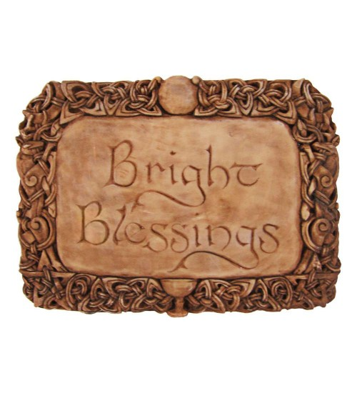 Bright Blessings Wiccan Wall Plaque at All Wicca Store Magickal Supplies, Wiccan Supplies, Wicca Books, Pagan Jewelry, Altar Statues