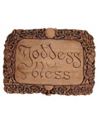 Goddess Bless Wiccan Wall Plaque All Wicca Store Magickal Supplies Wiccan Supplies, Wicca Books, Pagan Jewelry, Altar Statues