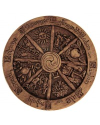 Wiccan Wheel of the Year Small Plaque All Wicca Store Magickal Supplies Wiccan Supplies, Wicca Books, Pagan Jewelry, Altar Statues