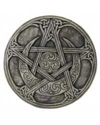Crescent Moon Small Pentacle Wall Plaque All Wicca Store Magickal Supplies Wiccan Supplies, Wicca Books, Pagan Jewelry, Altar Statues