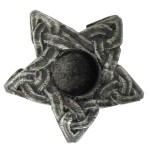 Pentagram Mini Pewter Candle Holder