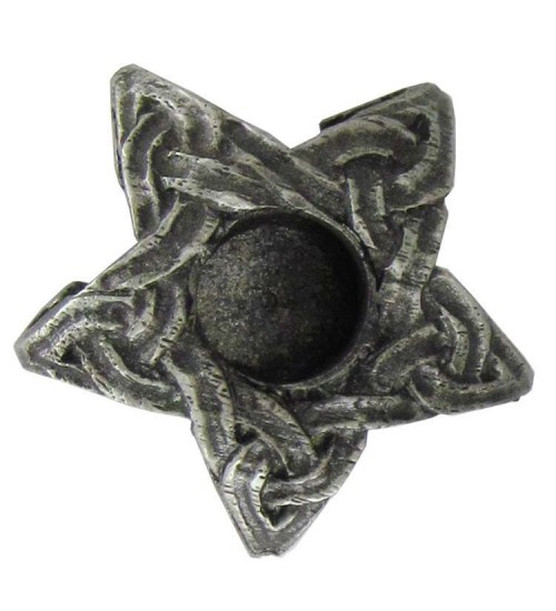 Pentagram Mini Pewter Candle Holder at All Wicca Magickal Supplies, Wiccan Supplies, Wicca Books, Pagan Jewelry, Altar Statues