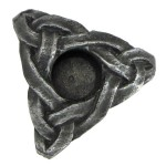 Triskelion Mini Pewter Candle Holder