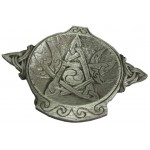 Moon Phase Pentacle Offering Bowl in Pewter