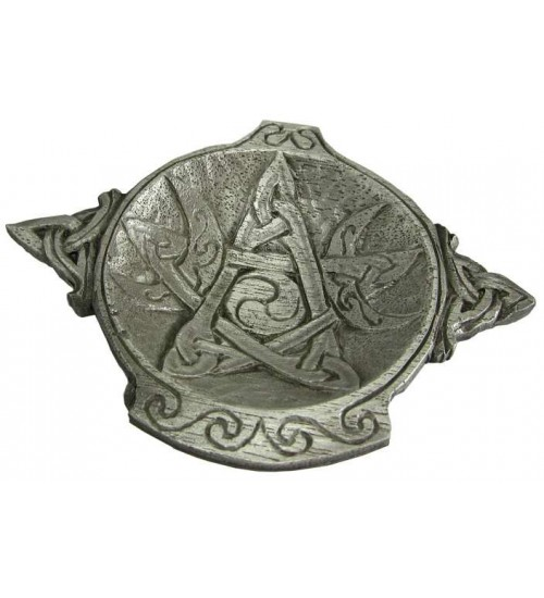 Moon Phase Pentacle Offering Bowl in Pewter at All Wicca Store Magickal Supplies, Wiccan Supplies, Wicca Books, Pagan Jewelry, Altar Statues
