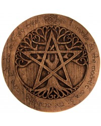 Tree Pentacle Large Plaque All Wicca Store Magickal Supplies Wiccan Supplies, Wicca Books, Pagan Jewelry, Altar Statues