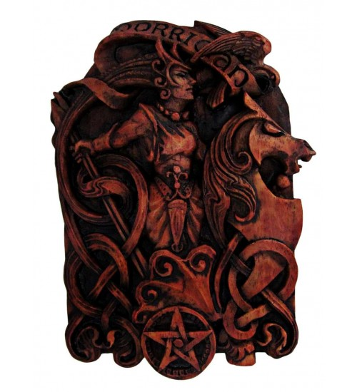Morrigan Celtic Goddess Wall Plaque