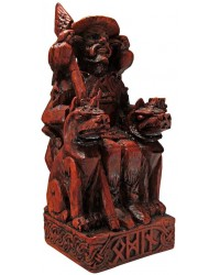 Odin, Norse All Father God Seated Statue