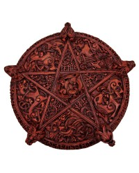 Knotwork Pentacle Large Wood Finish Plaque All Wicca Store Magickal Supplies Wiccan Supplies, Wicca Books, Pagan Jewelry, Altar Statues
