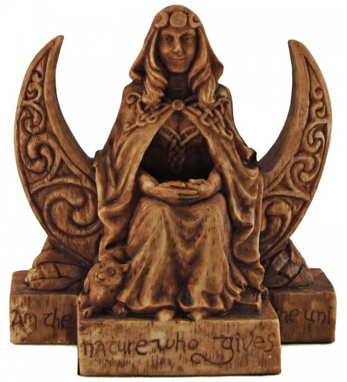 Moon Goddess Pagan Small Altar Statue at All Wicca Store Magickal Supplies, Wiccan Supplies, Wicca Books, Pagan Jewelry, Altar Statues