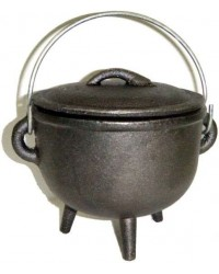 Cast Iron 4.5 Inch Witches Cauldron All Wicca Store Magickal Supplies Wiccan Supplies, Wicca Books, Pagan Jewelry, Altar Statues
