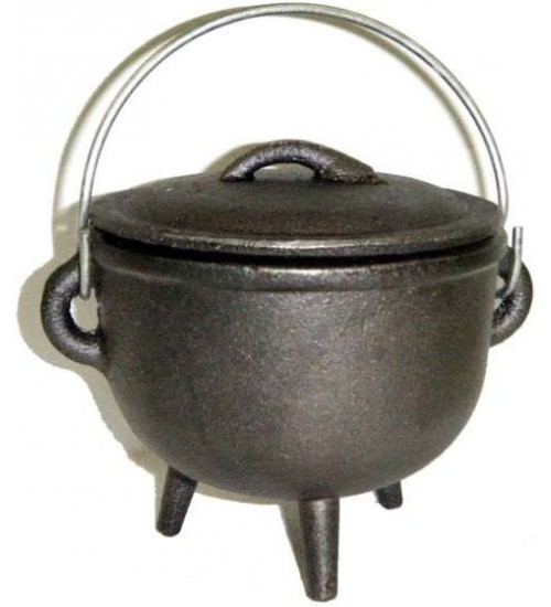 Cast Iron 4.5 Inch Witches Cauldron at All Wicca Magickal Supplies, Wiccan Supplies, Wicca Books, Pagan Jewelry, Altar Statues