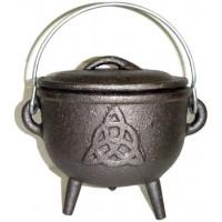 Triquetra Cast Iron 4.5 Inch Witches Cauldron