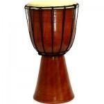 Djembe Drum Plain Red Mahogany Finish Drum