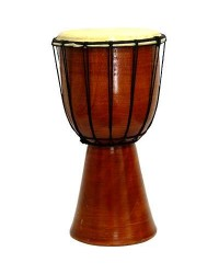 Djembe Drum Plain Red Mahogany Finish Drum