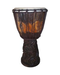 Dragon Carved Adjustable Djembe Drum
