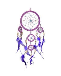 DreamCatcher with Pink Irridescent Beads All Wicca Store Magickal Supplies Wiccan Supplies, Wicca Books, Pagan Jewelry, Altar Statues