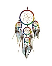 Rainbow Leather Dreamcatcher All Wicca Store Magickal Supplies Wiccan Supplies, Wicca Books, Pagan Jewelry, Altar Statues
