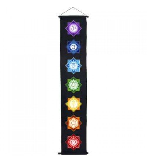 Chakra Black Meditation Banner at All Wicca Store Magickal Supplies, Wiccan Supplies, Wicca Books, Pagan Jewelry, Altar Statues