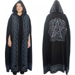 Pentacle Black Hooded Cloak