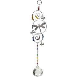 Dragonfly Wire Hanging Crystal Prism Suncatcher All Wicca Wiccan Altar Supplies, All Wicca Books, Pagan Jewelry, Wiccan Statues