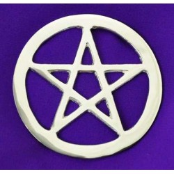 Pentacle Silver Altar Tile All Wicca Wiccan Altar Supplies, Books, Jewelry, Statues