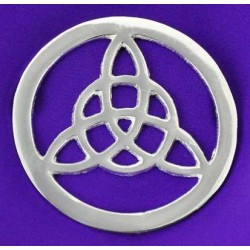 Triquetra Open Silver Altar Tile All Wicca Wiccan Altar Supplies, Books, Jewelry, Statues