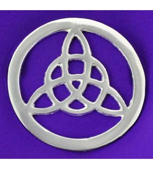 Triquetra Open Silver Altar Tile at All Wicca Store Magickal Supplies, Wiccan Supplies, Wicca Books, Pagan Jewelry, Altar Statues
