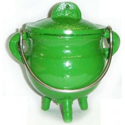 Green Cast Iron Mini Cauldron with Lid All Wicca Supply Shop Wiccan Supplies, All Wicca Books, Pagan Jewelry, Wiccan Altar Statues