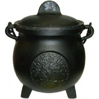 Tree of Life Potbelly 5.5 Inch Witches Cauldron