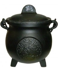 Tree of Life Potbelly 5.5 Inch Witches Cauldron All Wicca Supply Shop Wiccan Supplies, All Wicca Books, Pagan Jewelry, Wiccan Altar Statues