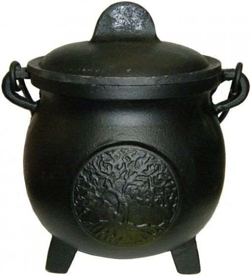 Tree of Life Potbelly 5.5 Inch Witches Cauldron at All Wicca Magickal Supplies, Wiccan Supplies, Wicca Books, Pagan Jewelry, Altar Statues