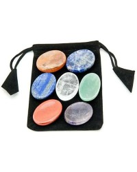 7 Chakra Worry Stone Set in Velvet Pouch All Wicca Store Magickal Supplies Wiccan Supplies, Wicca Books, Pagan Jewelry, Altar Statues