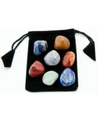 7 Chakra Tumbled Stone Set in Velvet Pouch All Wicca Magickal Supplies Wiccan Supplies, Wicca Books, Pagan Jewelry, Altar Statues