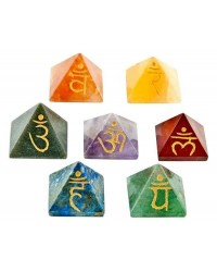 7 Chakra Gemstone Pyramid Set All Wicca Store Magickal Supplies Wiccan Supplies, Wicca Books, Pagan Jewelry, Altar Statues