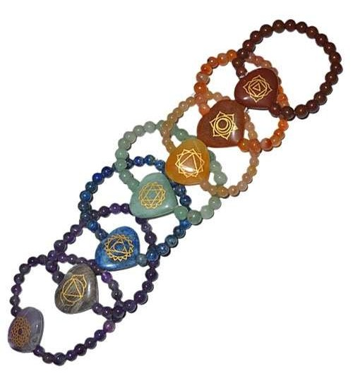 7 Heart Chakra Gemstone Bracelets at All Wicca Store Magickal Supplies, Wiccan Supplies, Wicca Books, Pagan Jewelry, Altar Statues