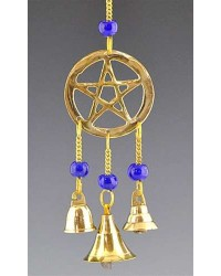 Pentacle Brass Chime with Beads All Wicca Magickal Supplies Wiccan Supplies, Wicca Books, Pagan Jewelry, Altar Statues